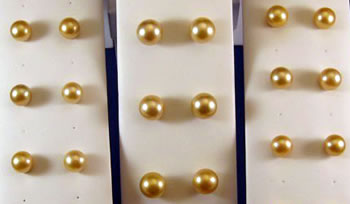 Golden South Sea Pearl Studs